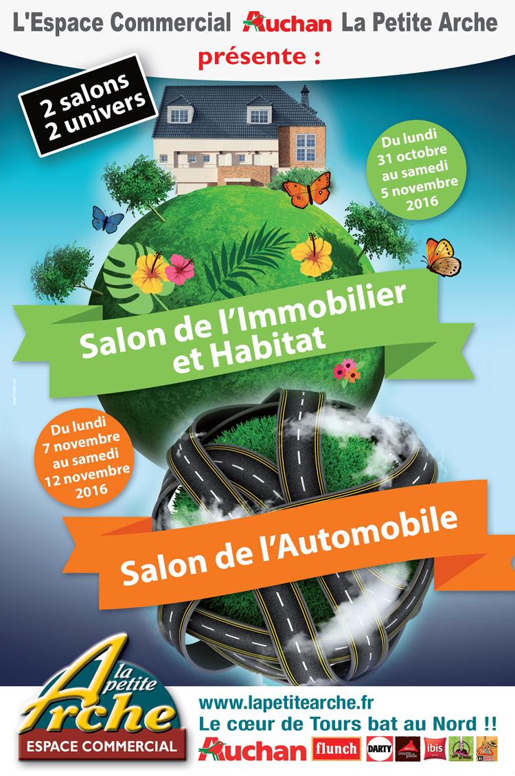 En novembre, le Centre Commercial Auchan La Petite Arche organise 2 salons thématiques, celui de l'immobilier et de l'habitat et celui de l'automobile !